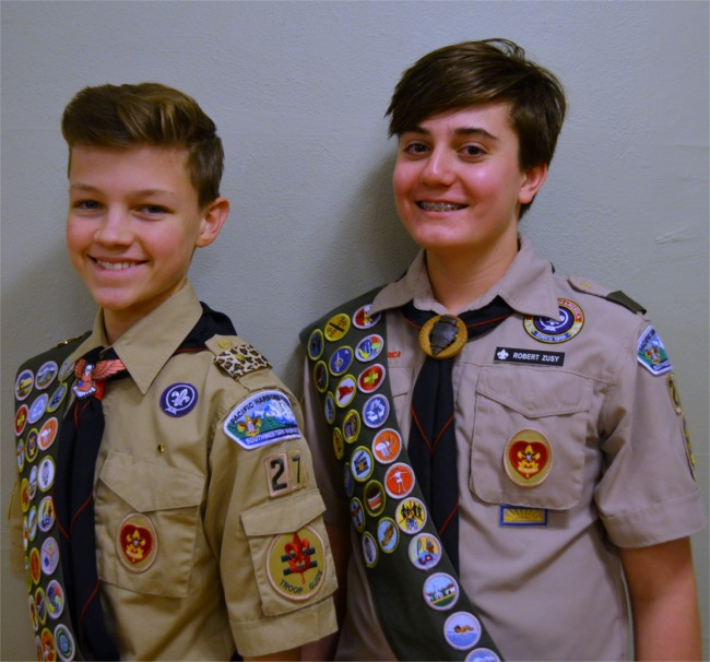 Eagle Scouts Aidan Toney and Robert Zusy